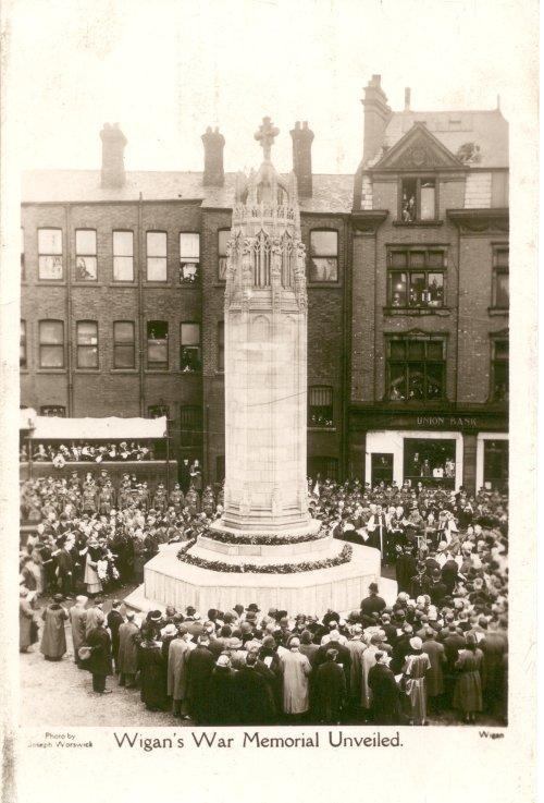 Unveiling of Wigan War Memorial