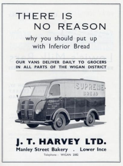 JT Harvey 1950s Advert