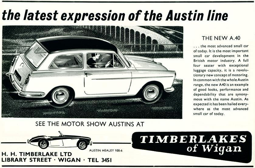 Timberlakes of Wigan ad, 1958