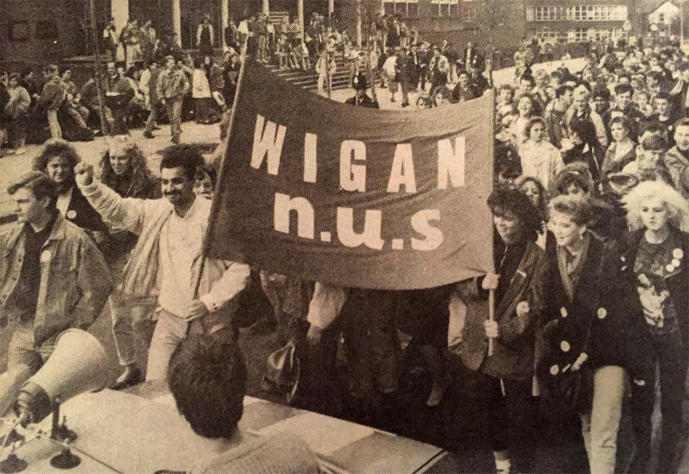 Wigan N.U.S. march