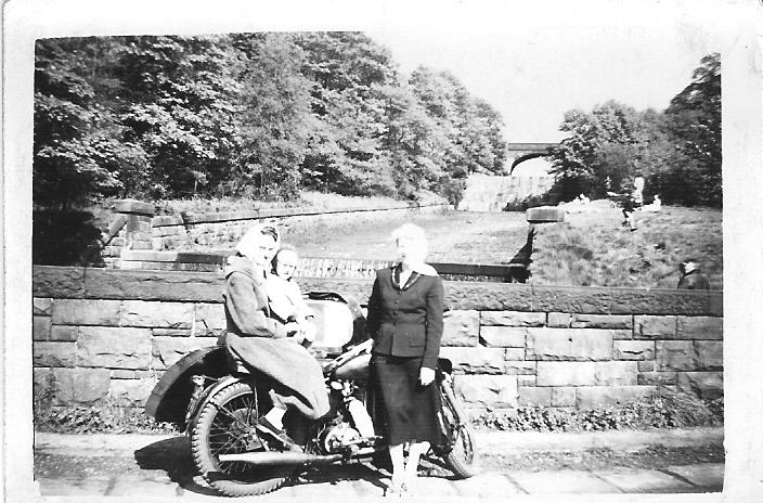 Matchless& sidecar, Rivington 1957?