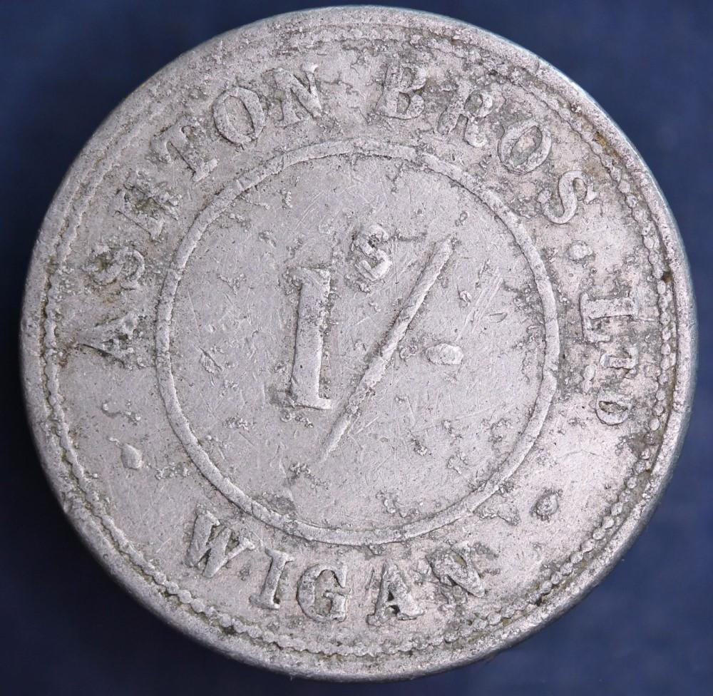 1/- Token ASHTON BROS.