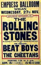 Wigan Empress poster1963/Beat Boys played with rolling stones