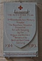 Red Cross Hospital Plaque in St Wilfrid's Church, Standish