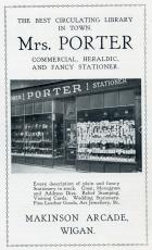 Mrs Porter Stationer 1920s advert