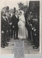 BB Guard of Honour for our wedding, 26th June 1971.