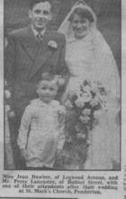 wedding photo from Evening Post 1954
