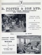 1950's advert  R.Foster & Sons.