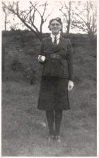Lily Hudson (from Petticoat Lane), officer in Girls' Brigade, c1930s.