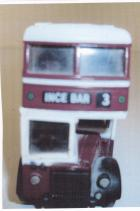 Model of a Wigan Corporation bus. (Front view.)
