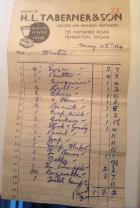 1954 Weekly Shopping List