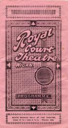 ROYAL COURT THEATRE 1922 PROGRAMME