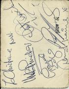 autographs on reverse of  Casino ticket