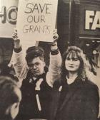 Save Our Grants - protest, 1987
