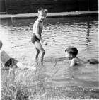 Kids in canal