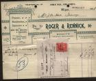 ROGER and RENNICK RECEIPT. 1908