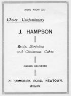 J. Hampson confectioner, Ormskirk Road, 1956.