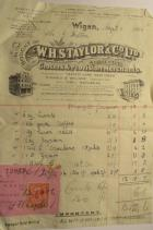 Invoice W.S.Taylor