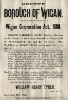 WIGAN Council Meeting 1913