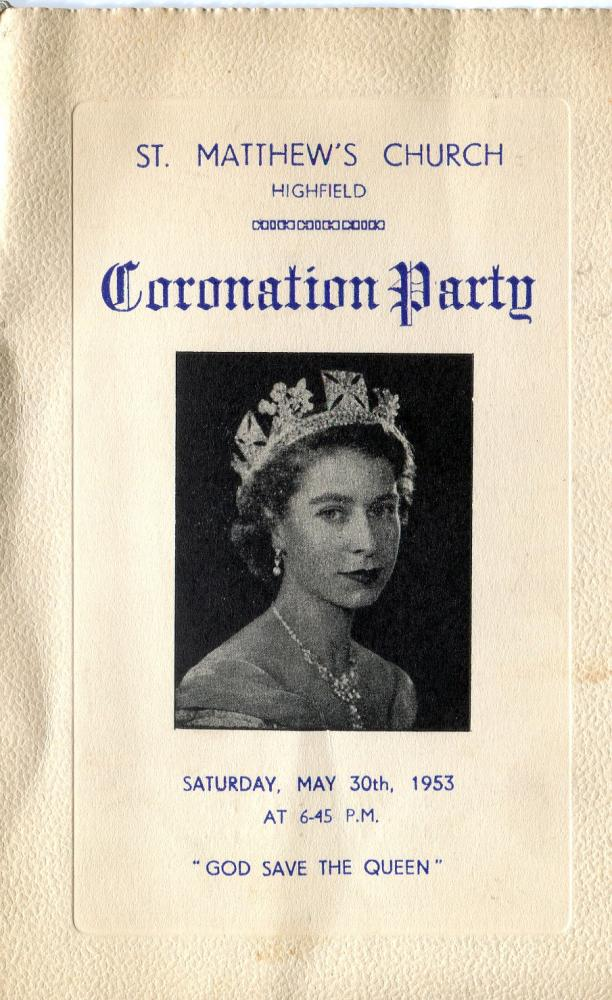 coronation party  invite