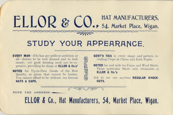 Ellor & Co., Hat Manufacturers