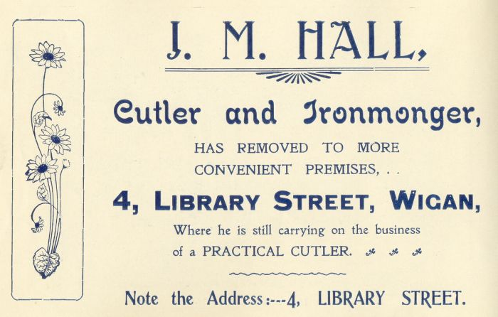 J. M. Hall, Cutler and Ironmonger, Wigan