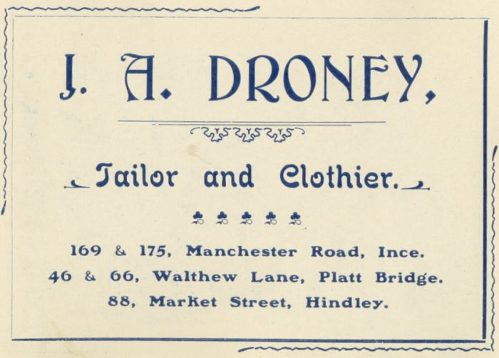 J. A. Droney, Tailor and Clothier