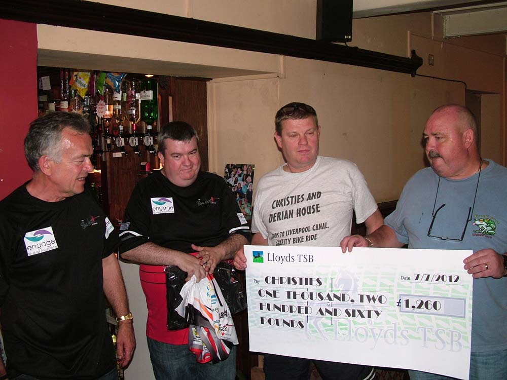 Martin (landlord) and another chap raised £1,260