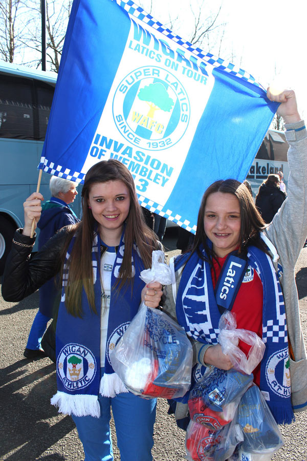 Latics fans, semi-final, April  2013