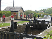 Arriving at the Top Lock, Wheelton