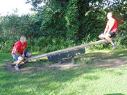 The see-saw challenge at At The Nevison Inn