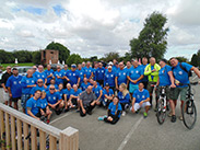 Group shot at Heaton Bridge