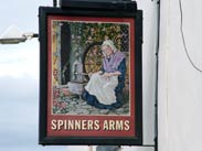 The Spinners Arms pub sign