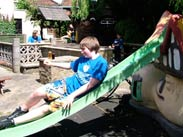 Thomas being a big kid at the White Bear in Adlington