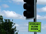 Cyclist Slow Down