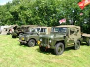 Military vehicles at Heaton Bridge