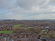 View from top of St Catharine's Church, Scholes