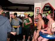 A group in fancy dress at Sams Bar