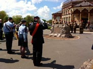 Boer War Memorial Service in Mesnes Park, Wigan