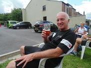 Dave enjoying a pint