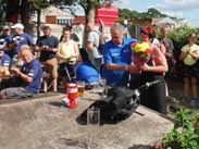 Presentation of flowers at the White Bear in Adlington