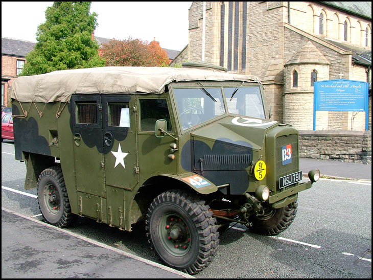 Army vehicle at the Charterhouse