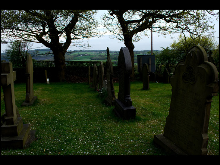 View from Churchyard at Parbold Hill