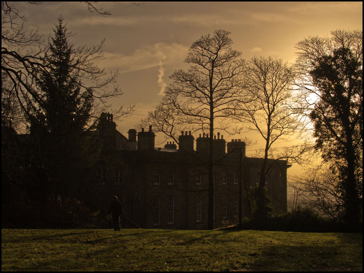 Haigh Hall in the early evening light