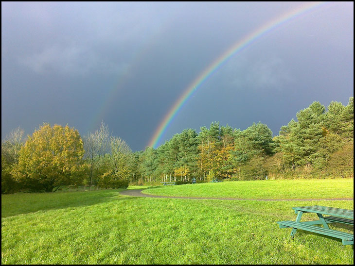 A Rainbow at the Country Park