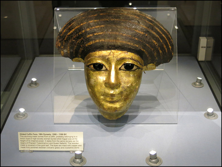 Gilded Coffin Face