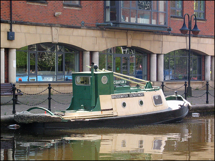 On hire and moored at Wigan Pier