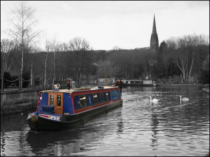 Canal Barge at Parbold