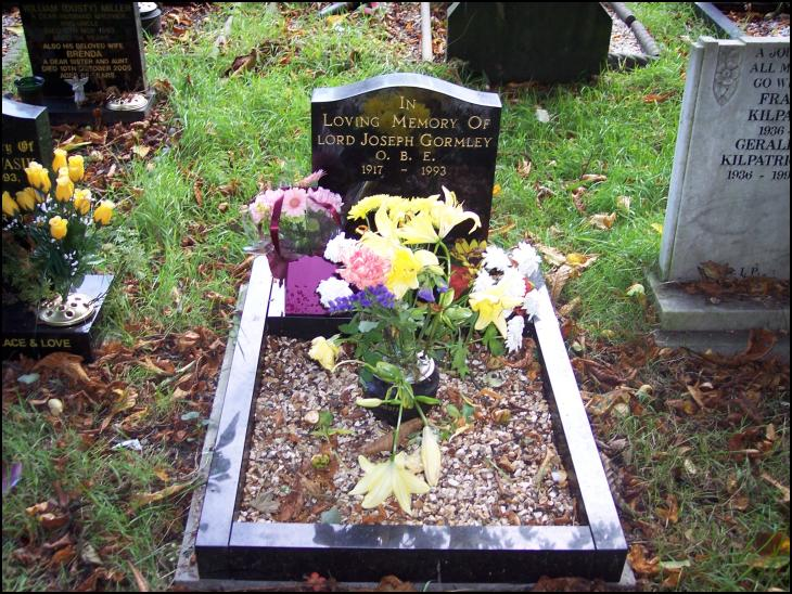 Joe Gormley's Grave