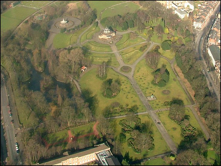 Mesnes Park from the Air